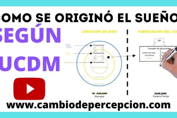 La Metafísica de UCDM (como se originó el sueño?)
